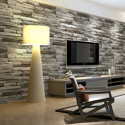 Modern Brick Wallpaper For Tv Sofa Background Stone Mural Roll Home Decor Gray Wall Art Living Room In Wallpapers From Improvement On