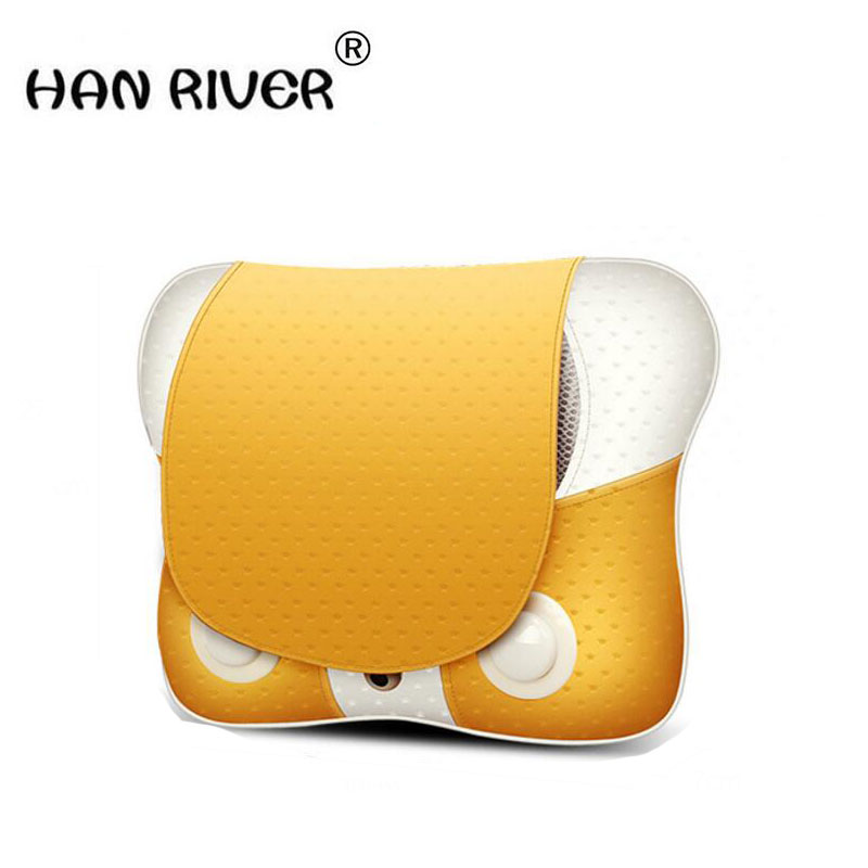 HANRIVER Massage Pillow Cervical Vertebra Massager Neck Waist Back Shoulder Massage Device Household Health Care Instrument cofoe household cervical vertebra bt jz cervical spondylosis massager neck pain traction physiotherapy health device 2017 newest