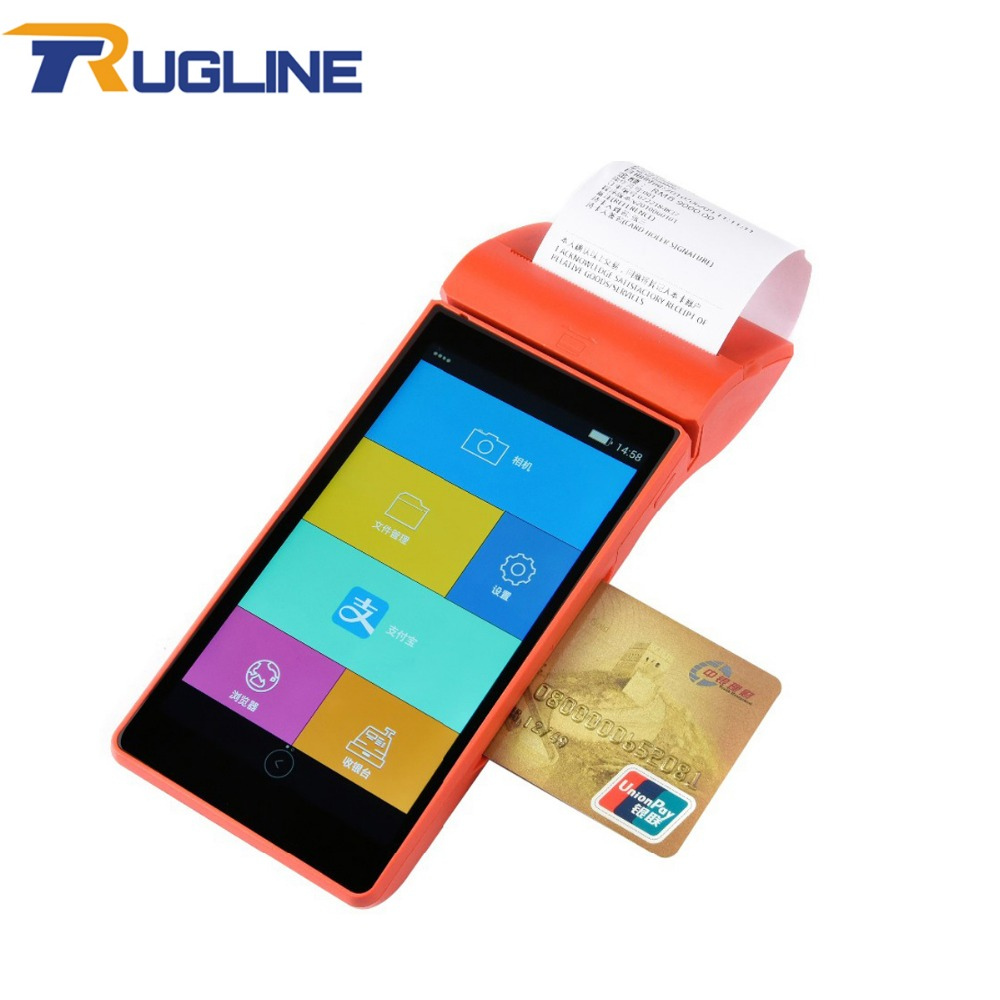4G Touch Screen Android 5.1 OS POS Terminal Bank Card Payment IC MSR Contactless Card Reader Card Swipe Machine