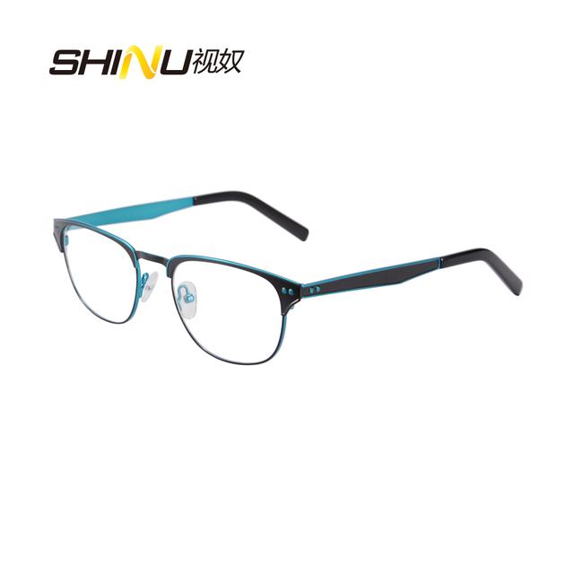 Fantasia Senhora Óculos Óculos Armação De Metal Em Aço Inoxidável Mulheres Armações Armações de Óculos de Prescrição Lunette de Vue SR8002