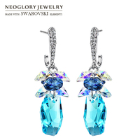 Neoglory MADE WITH SWAROVSKI Crystal Rhinestone Drop Earring Fashion Elegant Jewelry For Women New Fashion 2014