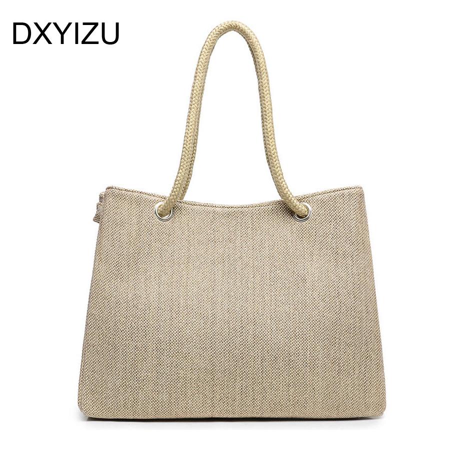 Prix pour Style d'été Plage Sac capazos de playa de plage jute paniers sacs pour les femmes messenger sacs meilleur sac à main de marque célèbre sac fourre-tout nouveau