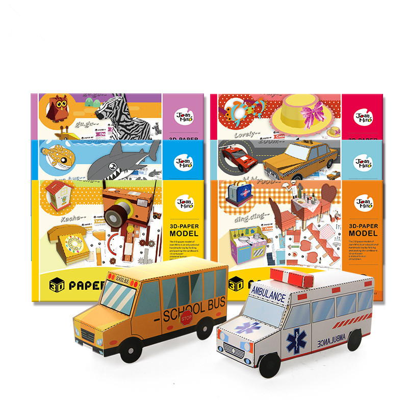 3D Children Craft Toys Paper Model Book Arts & Crafts Stickers DIY Game Handmade Animals Accessories Kitchen Girls Toys For Kids