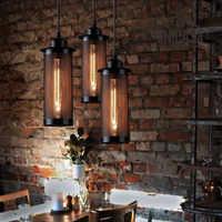 Mini accesorio de iluminación de Metal Industrial negro colgante luces Hotel cocina isla Bar tienda Vintage país colgante lámpara de techo