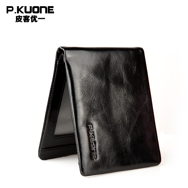 Leather Wallet 2017 Pocket Design Small Luxury Brand Male Purse High Quality Carteira Credit Card Holder Short Minimalist Purse male leather casual short design wallet card holder pocket