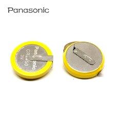 20pcs/lot Panasonic CR2450 550mAh Button Cell Batteries 3V 180 Degree welding Solder Pins Bluetooth Watch CR 2450 Coin battery