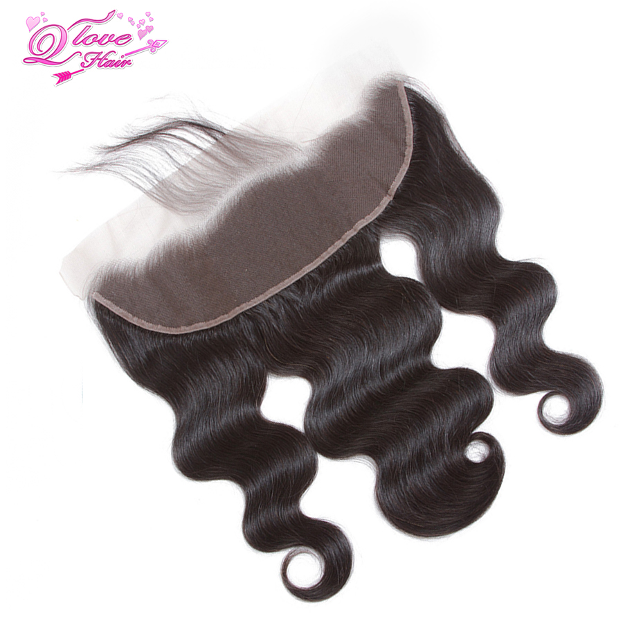 Queen Love Hair Brazilian Body Wave Human Hair Lace Frontal Closure 13*4 Ear to Ear Frontal Free Part 8-20 Inches Remy Hair