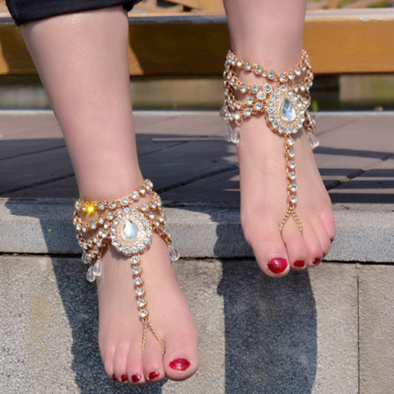 anklet ankle chain beads bell foot from bracelet lots big barefoot on silver anklets sexy in sandal jewelry vintage ankles for women item new fashion accessories