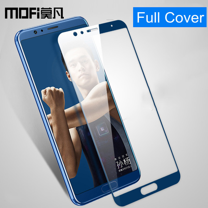 for Huawei honor view 10 glass MOFi v10 screen protector full cover protect blue black front film honor v10 tempered glass 5.99 image