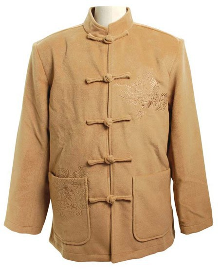 Honesty Winter Hottest Camel Men Velour Thick Overcoat Chinese Traditional Embroidery Jacket Tang Suit Size M L Xl Xxl Xxxl Mj051 Jackets & Coats