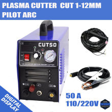 Pilot Arc Plasma Cutter Plasma Cutting Machine 220V 50A IGBT HF Work with CNC Compatible Accessories & 1-12mm