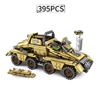 Military Germany Armored Vehicle Building Blocks WW2 Army truck Bricks Soldiers Figures Weapon Blocks Toys for Children Boys