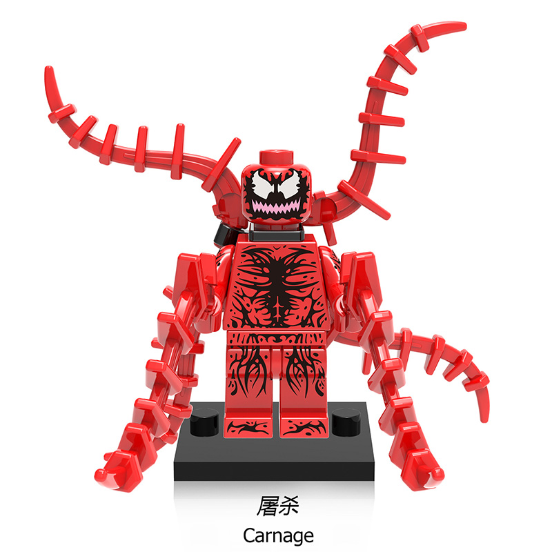 Single Sale Carnage XH659 Marvel Super Hero Action Figure Set Model Building Blocks Sets Kids Gifts Toys Hobbies hulk xh002 super hero single sale bruce banner red she hulk marvel s the avengers building blocks sets model figure toys