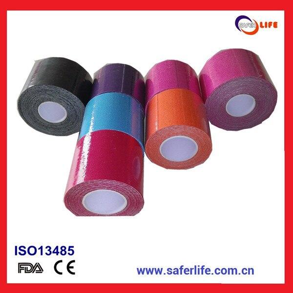 SAFERLIFE Спортивной Кинезиологии Клейкие ленты 5 см * 5 м хлопок Клейкие ленты