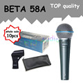 10pcs wholesale Top Quality Beta 58 58A Clear Sound Handheld Wired Karaoke Microphone