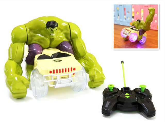 10 conjunto The Avengers flash RC som Brinquedo Hulk Quebra Quebra de Veículos, vira, gira carro modelo passar por obstáculos crianças dom brinquedos criança