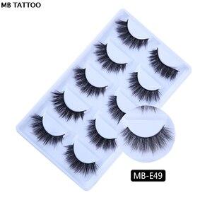 Image 4 - MB 5 Pairs Mink Eyelashes 3D faux cils natural Thick HandMade Full Strip Fake Lashes Make up Eye lashe False Eye lashes Makeup