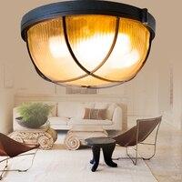 Brief outdoor ceiling light moistureproof light colored glaze led lighting aluminum balcony lamp