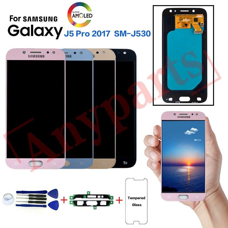 AMOLED Pour Samsung Galaxy J5 Pro 2017 SM-J530F Affichage écran lcd remplacement pour Samsung SM-J530GM J530Y J530YM module afficheur