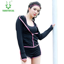 Gym Workout clothes women hooded long sleeve fitness clothes quick drying perspiration show thin zipper sport