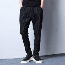 Men brand casual pant fashion hip hop striped harem pant male fashion cross trousers spring autumn sweatpants 6026