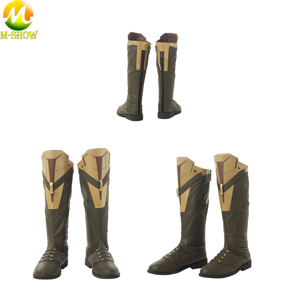 The Avengers 3 Thanos Cospaly Boots Brown PU Leather Boots Cosplay Accessories Adult Men Shoes For