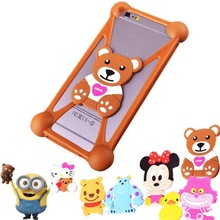 Anti-Shock Cartoon Silicon Mobile Phone Bag Case Cover For iPhone 6 7 Plus Universal Cartoon Protector For Oukitel U7 pro 5.5 >