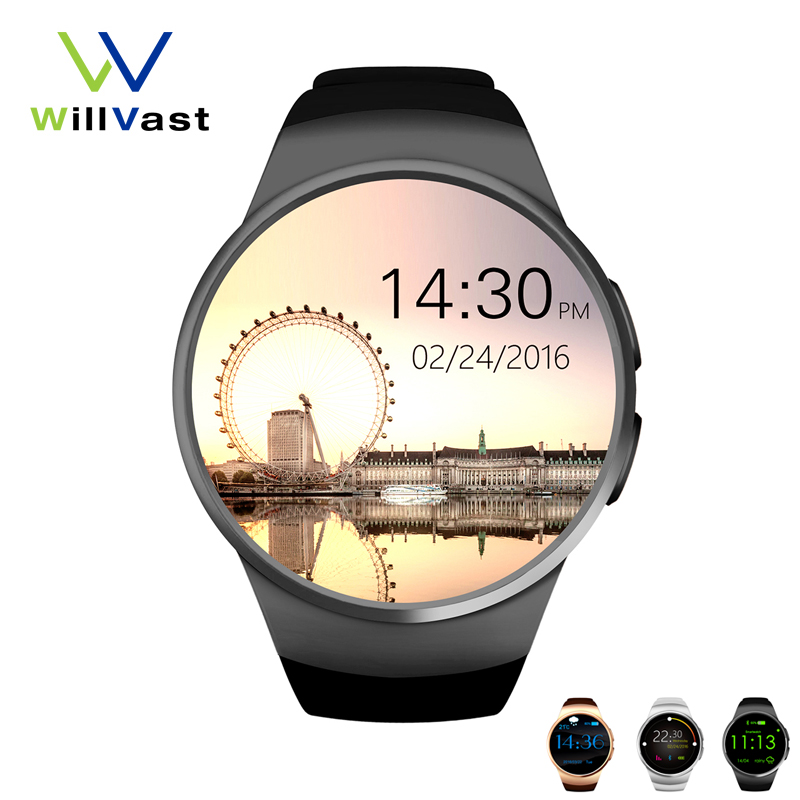 ФОТО Genuine KW18 Bluetooth Smart Watch full screen Support SIM TF Card Phone Smartwatch for Man & Woman for iOS & Android