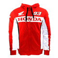 2017 Marc Marquez 93 Dual Moto GP Hoodie Red Thicker Zipper Sweater for Adult