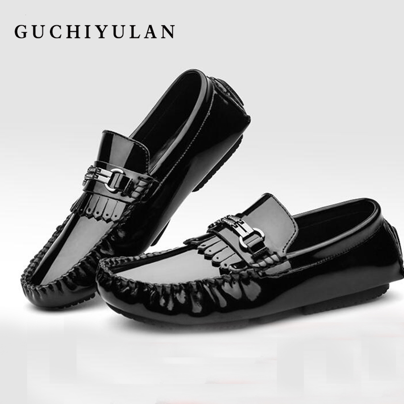 Fashion Men Shoes Black Genuine Leather Casual Driving Shoes Men's Slip On Penny Loafers Moccasins 2018 New Style Leisure Shoes dekabr new 2018 men cow suede loafers spring autumn genuine leather driving moccasins slip on men casual shoes big size 38 46