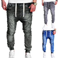 Skinny Jeans For Men Gray Street wear Hip Hop Stretch Jeans Hombre Slim Fit Fashion Biker Ankle Tight Dropshipping Plus size 3XL