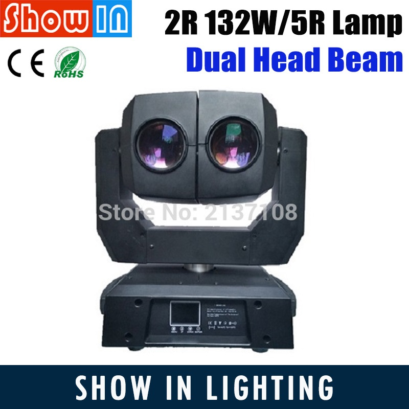 2R 5R 132W LED Gobo Beam Dual Moving Head Lamp Farol Alien DMX DJ Disco Patry Wedding Stage Lighting Equipment Free Shipping 6pcs lot white color 132w sharpy osram 2r beam moving head dj lighting dmx 512 stage light for party
