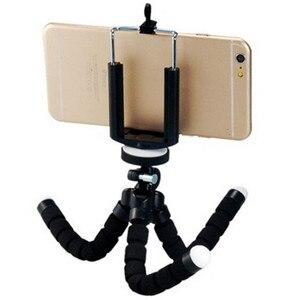 Image 3 - Support de trépied de téléphone Flexible éponge trépied poulpe support de montage Bluetooth obturateur à distance Selfie bâton retardateur support de trépied