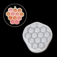 Bee Honeycomb Liquid Silicone Mold DIY Resin Grape Jewelry Making Pendant Mould(China)