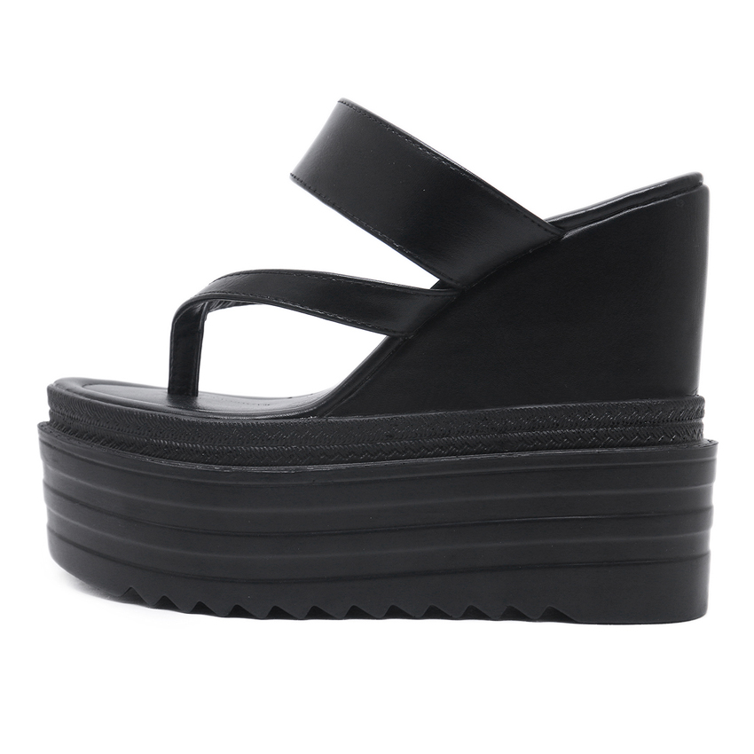 e1d581c562 AIYKAZYSDL Women Flip Flops Thong Sandals Platform Wedge Shoes PU Ultra  Very High Heels Pumps Summer Woman Slides Mules 2018-in High Heels from  Shoes on ...