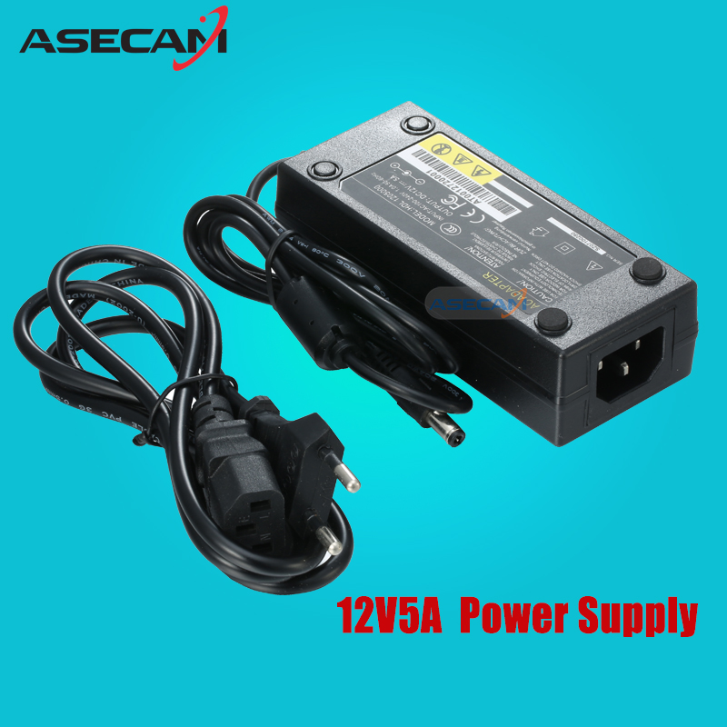 High quality Enough DC 12V 5A Power Supply for CCTV Security Camera system Converter EU US AU UK Standard Plug Adapter 2pcs 12v 1a dc switch power supply adapter us plug 1000ma 12v 1a for cctv camera