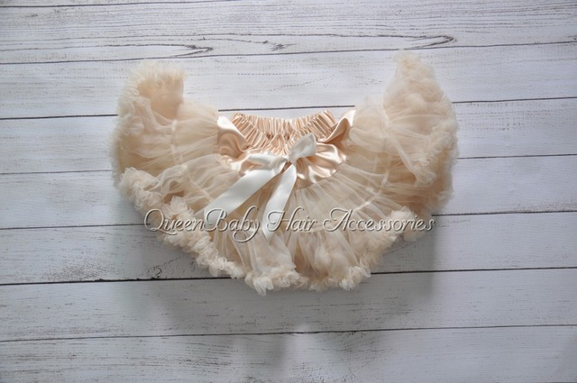 5 unids/lote Couture Champagne Fluffy Pettiskirt Del Bebé Pettiskirt de La Muchacha Pettiskirt