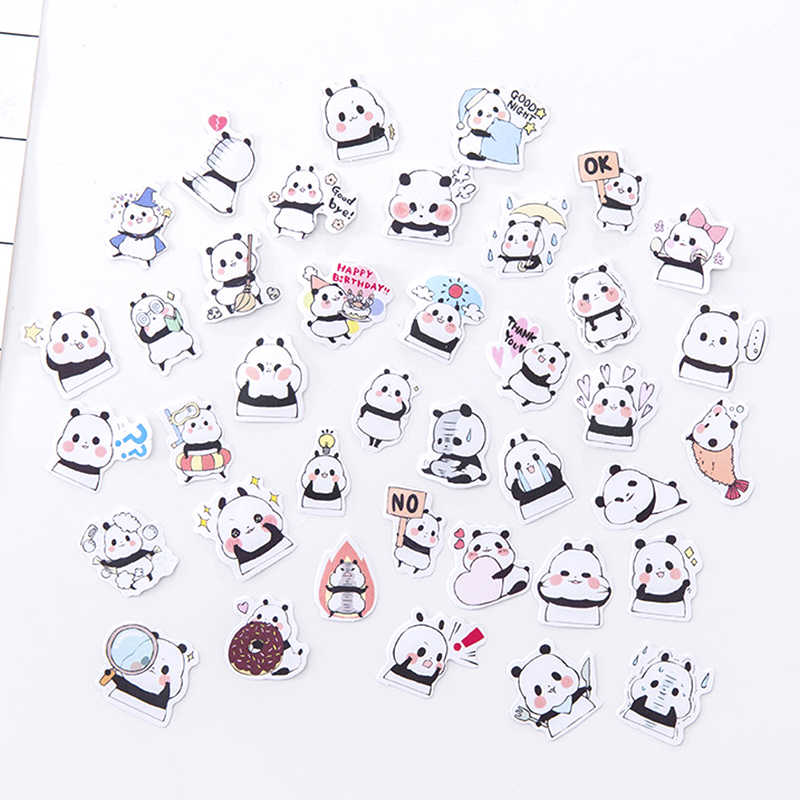 Cartoon Panda Sticker Cute Plant Cat Decoration DIY Ablum Diary Scrapbooking Label Stickers Stationery gift school supplies