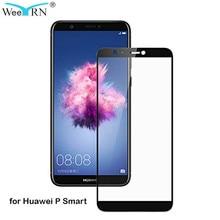 WeeYRN 9H 2.5D полный охват защитное стекло на Huawei P Smart(Хуавей П Смарт) закаленное Стекло Экран протектор защитная пленка на для Huawei P Smart