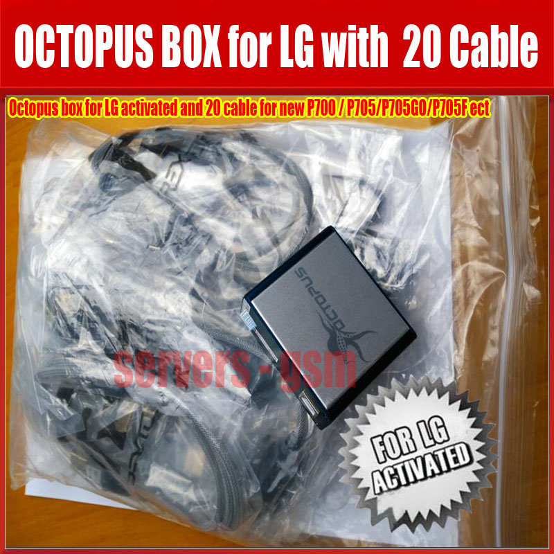 US $155 5 |The Latest 100% Original Octopus box for LG repair IMEI UNLOCK  flash rom The world's best instrument with 20 cables-in Telecom Parts from