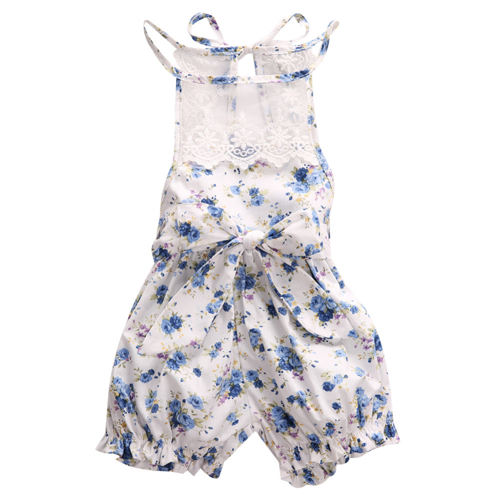 Summer Baby Girl Romper Newborn Infant Baby Girl Romper Floral Lace Backless Romper Jumpsuit Outfits Sunsuit Kids Girls Clothes