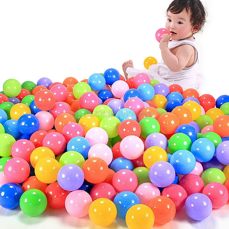 100pcs 7cm Lot Colorful Ball Fun Ball Soft Plastic Ocean Ball Baby Kid Toy Swim Pit
