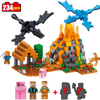 234pcs Mine World Compatible Legoed Minecrafted Figures Building Blocks Bricks Set Educational Toys For Children 2017