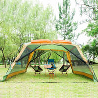 Outdoor Awning Camping 8 10 People Barbecue Portable Folding Beach Tent