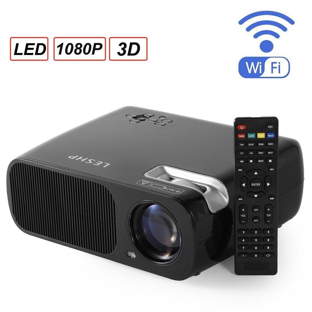 Projecteur HD 2600 Lumen Android 6.0 WiFi projecteur Bluetooth (en option) Full HD 1080P LED TV vidéo projecteur 3D livraison directe