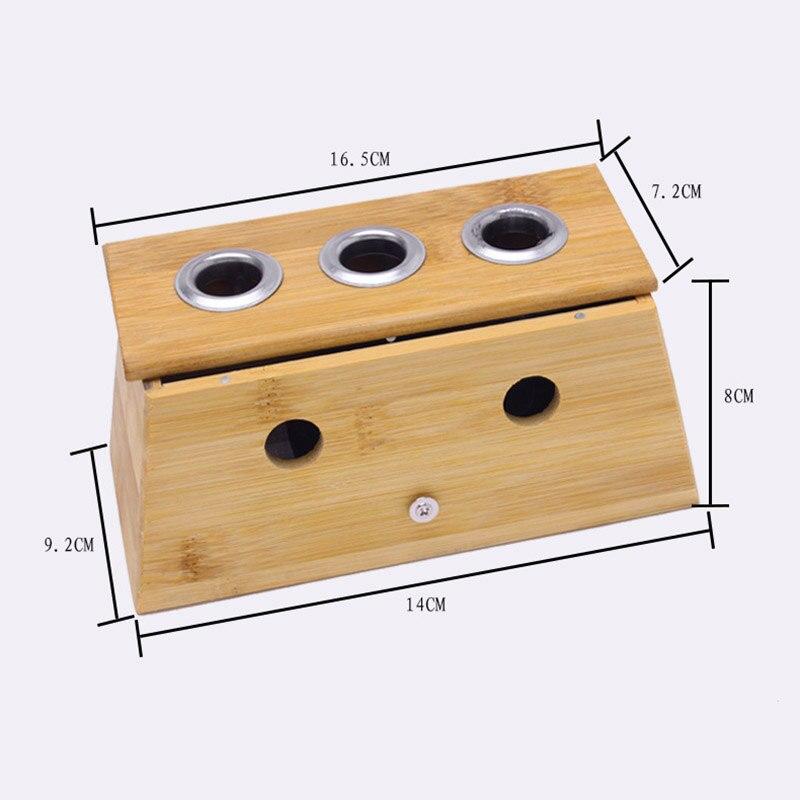 Moxibustion Bamboo Wood Box Roll Stick Holder Case Acupoint Massage Device Tool DC88