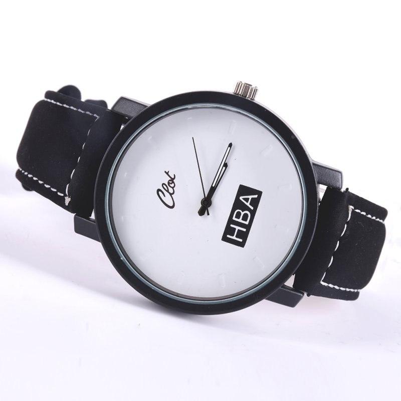 Women Men Leather Strap Unisex Watches Men Quartz Women Dress Watch Sports Military Relojes Lovers Watches Wristwatch