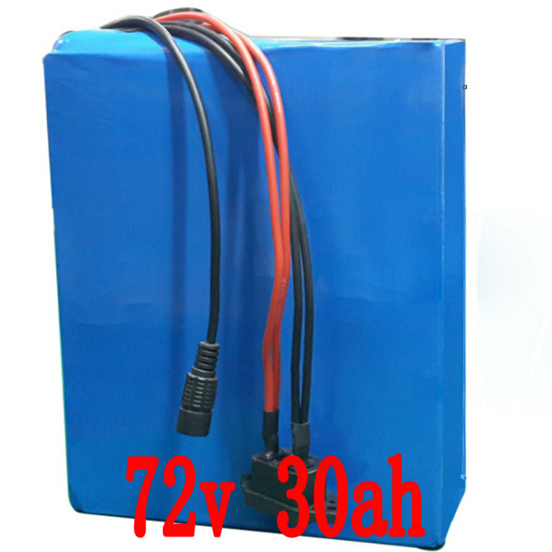 Lithium 72v 30Ah E-Scooter Battery 2800w use for Samsung 18650 Cell with 84v 5A Charger 50A BMS e-Bike Battery  Free Shipping 30a 3s polymer lithium battery cell charger protection board pcb 18650 li ion lithium battery charging module 12 8 16v