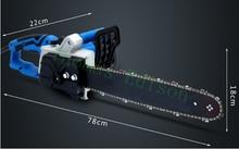 2200 w Yüksek verimli elektrikli zincir testere kesme ahşap testereler elektrikli aracı