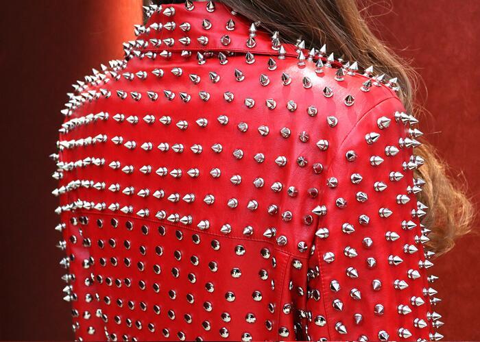 Cuir Coloré En Rue De Nouvelle Jaune Zipper Moto 2018 Mode Ciel Cool Veste Manches Femmes Courtes Arc Impression Manteau Pu D29WEHIY